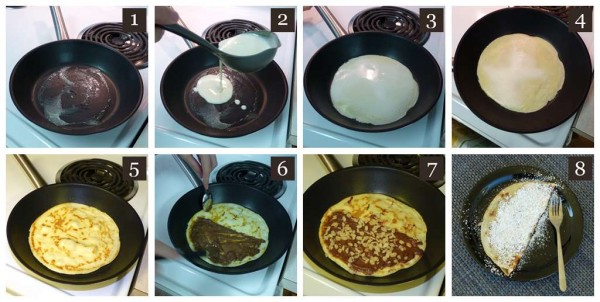 Nutella Crepes Steps