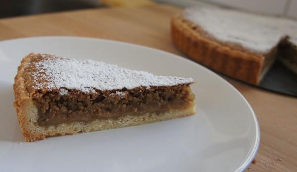 Walnut Crostata - slice