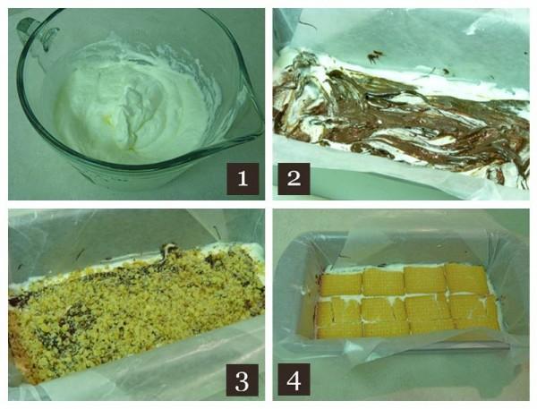 Ice cream cake Steps