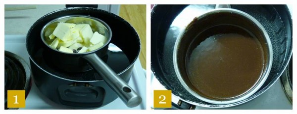 Bain-marie Chocolate Butter And Sugar