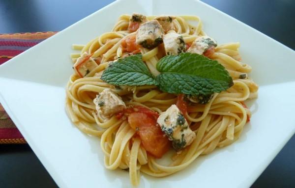Swordfish And Mint Pasta