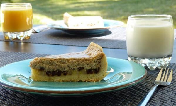 Italian Banana Chocolate Cheesecake