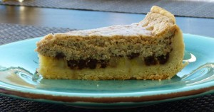 Italian Banana Chocolate Cheesecake Slice