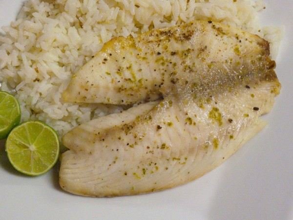 Tilapia fillets with lime
