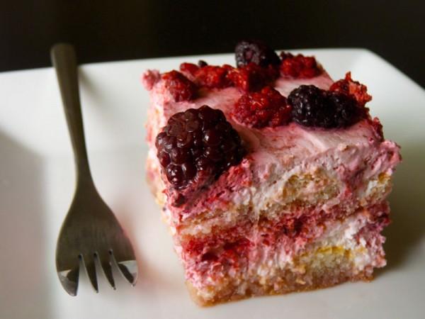 Berry dessert slice