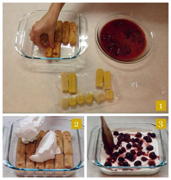 Berry Dessert Steps