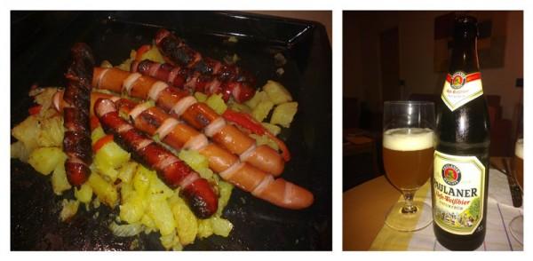 Bier und Wurstel
