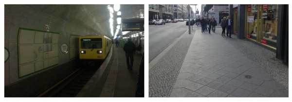U-Bahn and huge Sidewalks