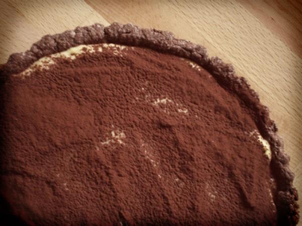 crostata di cioccolato alla crema pasticcera