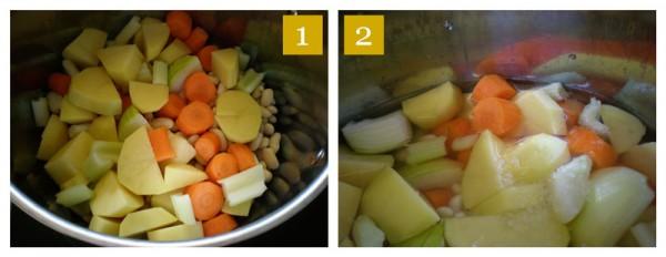 vegetables for pasta e fagioli
