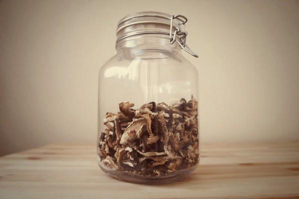 porcini mushrooms jar