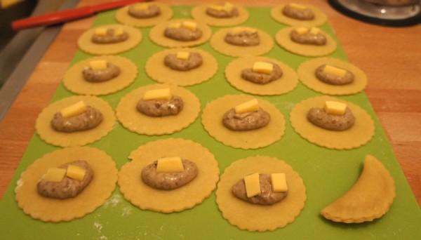 Porcini mushroom pasties preparation