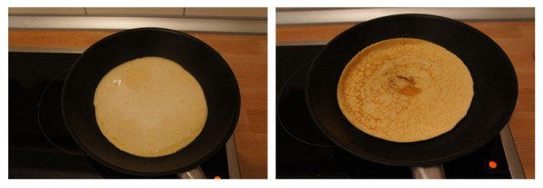 cooking crepes