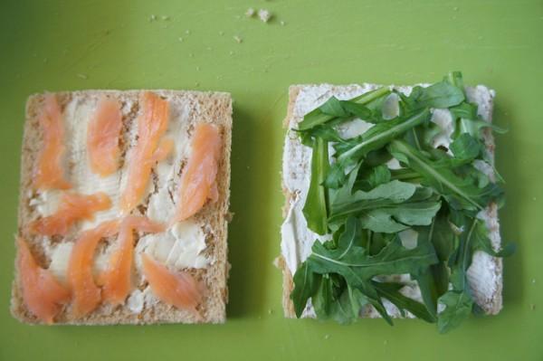 Salmon and arugula