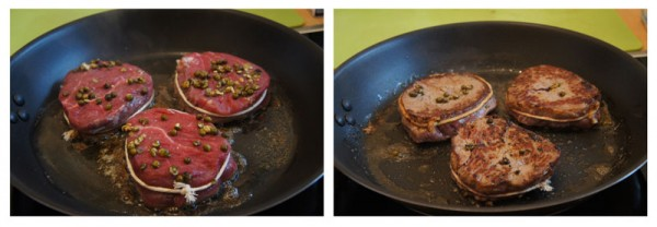Cooking - Beef fillet with green peppercorn