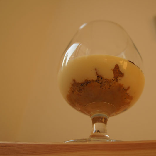 Glass of tiramisu