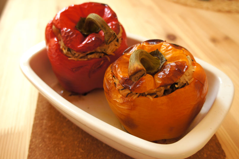 are for 4 vegetarian stuffed peppers, you can serve one pepper ...