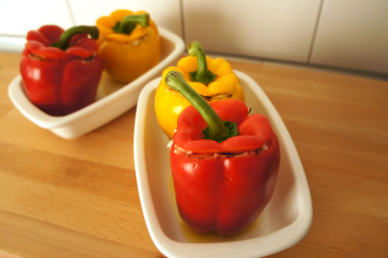 Vegetarian Stuffed Peppers | BeyondPasta