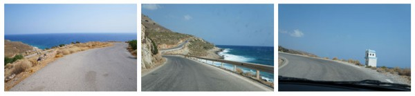 Scary road in Crete