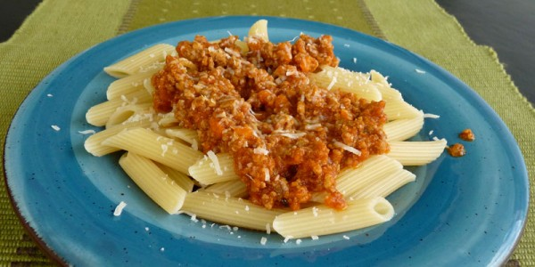 Ragu - bolognese sauce - over pasta
