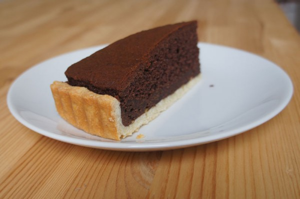 Three layers chocolate crostata