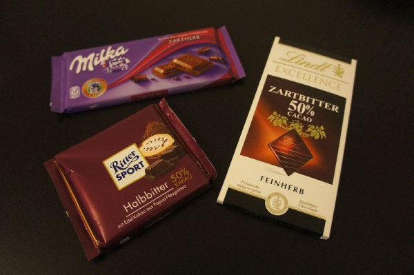 Chocolate Bars: Milka, Ritter and Lindt