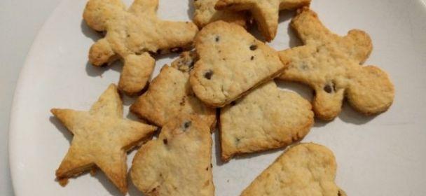 Biscotti senza uova croccanti con gocce di cioccolato