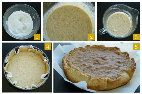 Walnuts Crostata Steps - crostata di noci