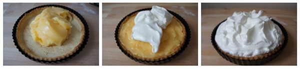 Assemblaggio della Lemon Meringue Pie - Crostata Meringata al Limone
