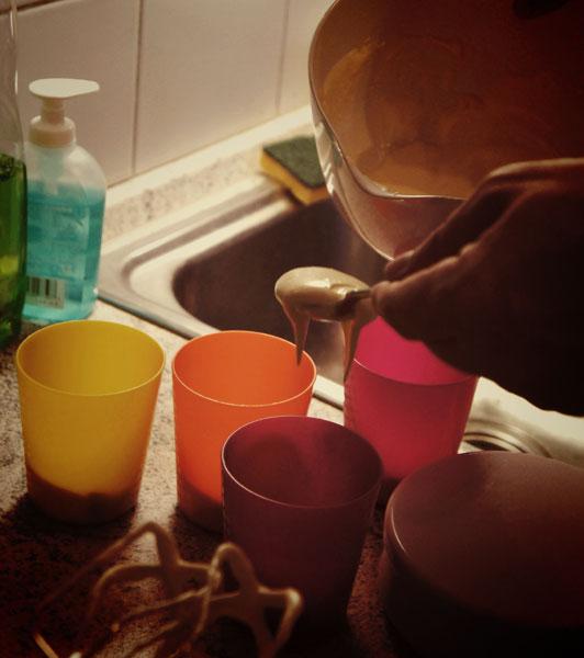 bicchiere di crema mascarpone