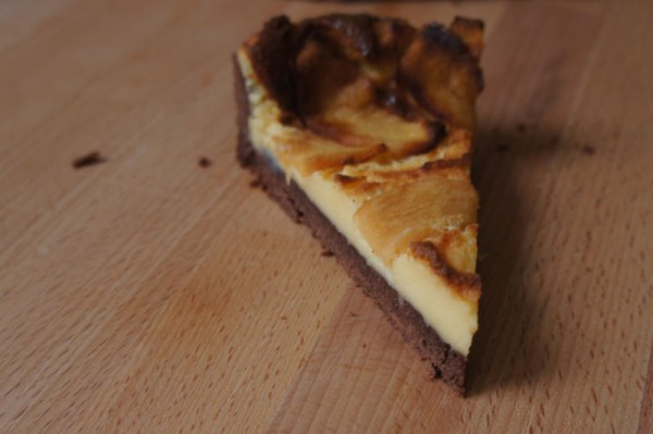 Crostata simil cheesecake al mascarpone e mele - fetta