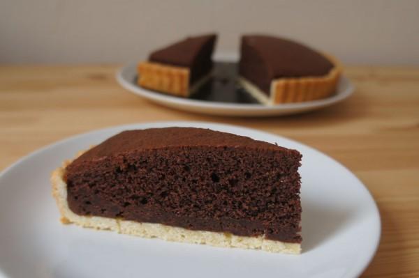 crostata al cioccolato tre strati