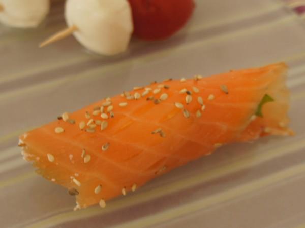 ricetta mini involtini al salmone