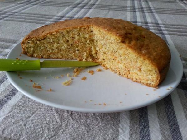 Torta di Carote Dietetica Nocciole e Ginger